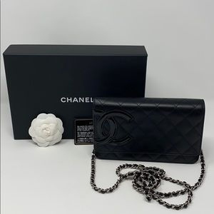 Chanel WOC Cambon Black Clutch Crossbody